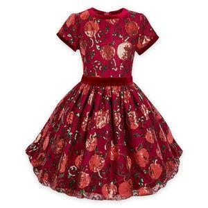 Disney Snow White Red Apple Sequin Dress